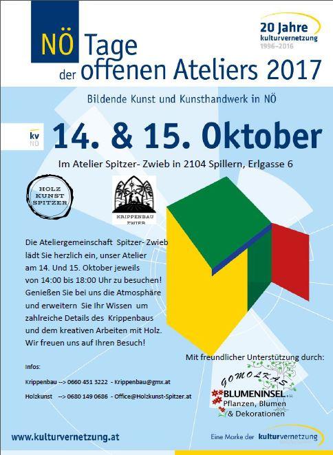 NÖ Tage der offenen Ateliers 14. und 15.10.2017